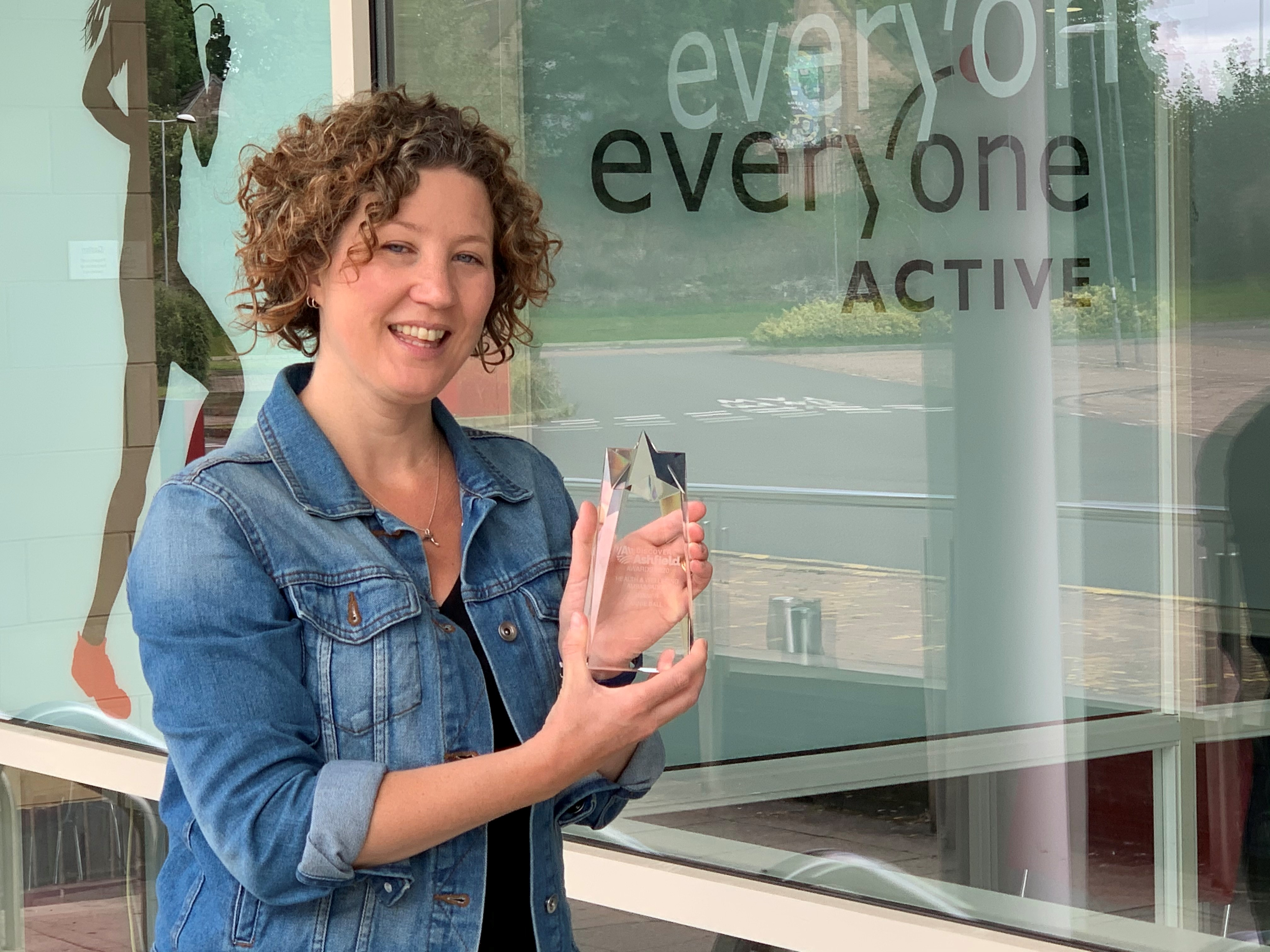 Annie Ball, winner of the Health and Wellbeing Ambassador Award