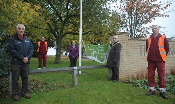 Green Flag raising at Sutton Lawn